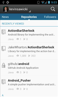 GitHub pour Android