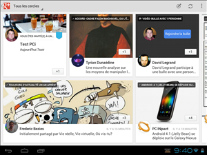 Google+ Android Tablette
