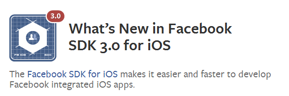 facebook ios 6 sdk 3.0