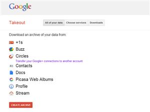 google+ transfert compte