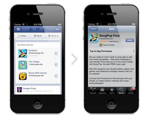 publicite facebook mobile