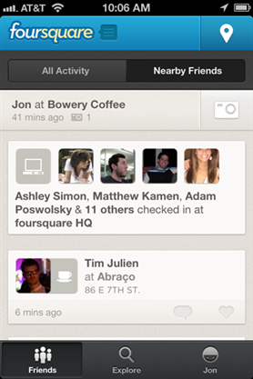 foursquare application mobile