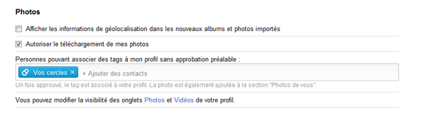 google+ option photos