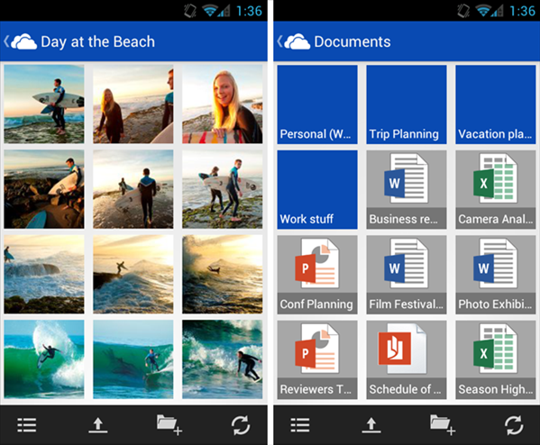 skydrive Android application