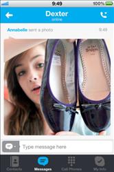skype ios ipad partage photo