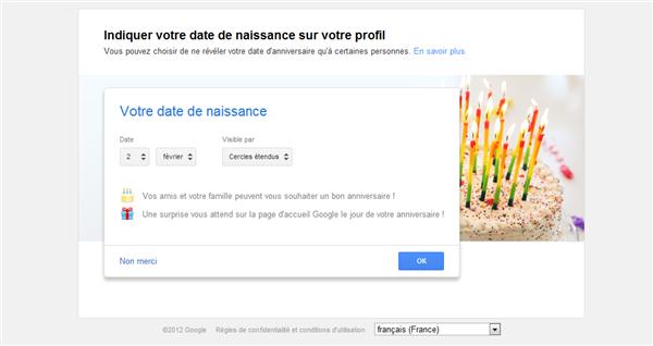 google+ anniversaire