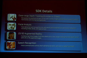 Intel IDF Day 1 Perceptual SDK