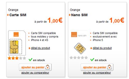 orange nano sim