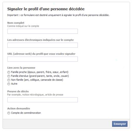 facebook fermeture compte deces