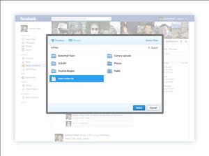 dropbox partage facebook