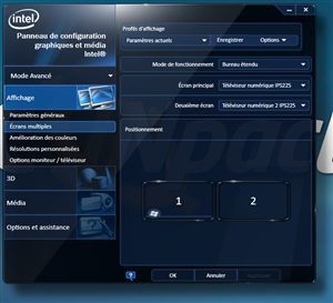 Intel Pilote Windows 8 Trois écrans