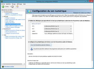 Windows 8 Trois écrans NVIDIA