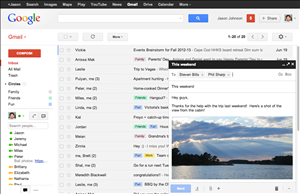 gmail ecriture message pop-up