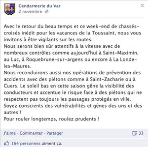 gendarmerie facebook