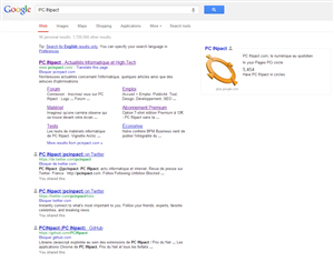 Google Modification des SERPs Novembre 2012