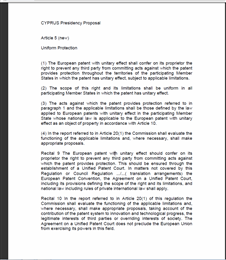 compromis brevet unitaire européen