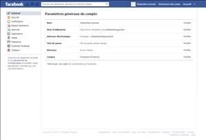 facebook telecharger donnees