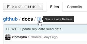 GitHub Création de fichier