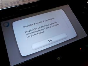 Nintendo eShop Bloqué
