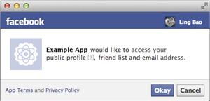 facebook autorisation application