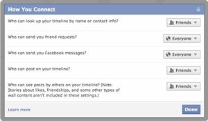 Facebook Moteur de recherche