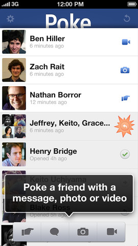 facebook poke ios
