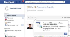 facebook glisser deposer