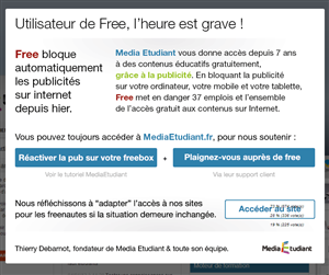 Media Etudiant Free AdGate