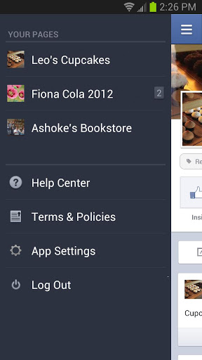 facebook gestionnaire page android