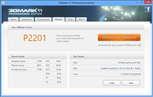 Gada D2305 3DMark11