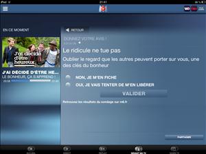 M6 Devant Ma TV J'ai décidé d'etre heureux iPad