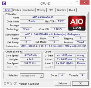 ASUS U38N CPU-Z