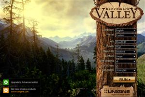 Benchmark Unigine Valley