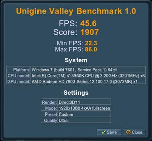 Valley Radeon HD 7970 (4X)