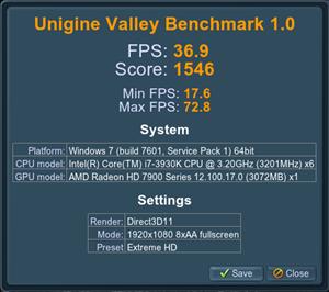 Valley Radeon HD 7970 (8X)
