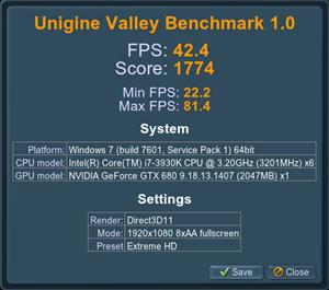 Valley GeForce GTX 680 (8x)