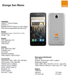 Orange San Remo