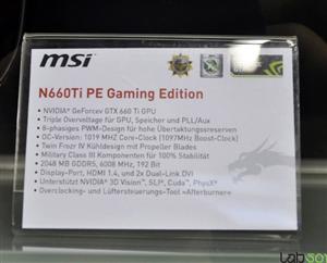 MSI N660 Ti PE Gaming Edition