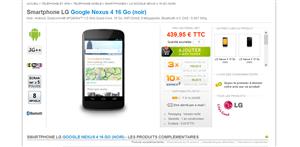 Nexus 4 Revendeurs