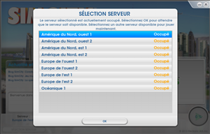 SimCity serveurs