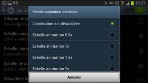 Options de développement Android
