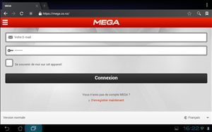 Mega site mobile
