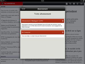 Abonnement iPad Le Monde Mediapart