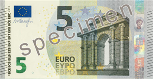 Nouveau Billet 5 €