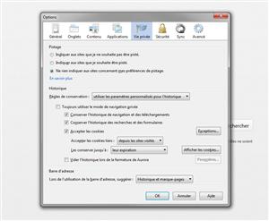 Firefox blocage poublicité défaut