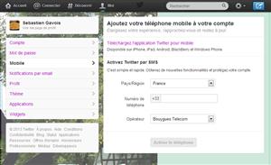 Twitter ajoutez téléphone