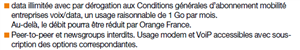 Orange OBS sans limitation