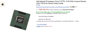 Core i7 4770 Amazon Leak