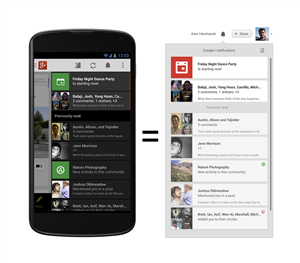 Google+ Android notification