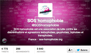 sos homophobie twitter